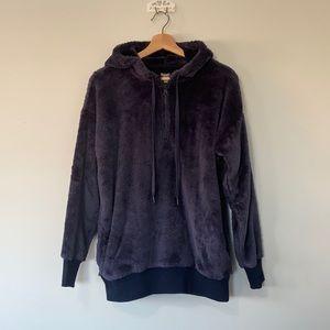 Aerie Fleece Navy Blue Pullover